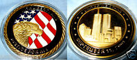 9/11 Gold Coin New York City United we Stand Man LIBERTY & JUSTICE USA 911 Hope