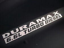 (2) 6.6L DURAMAX TURBO DIESEL Hood Decals Stickers Chevy Silverado GMC Sierra HD