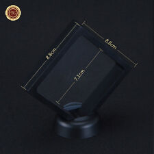 "3.5x3.5"" Square Coin & Bar Collection Protect Case Display Frame 3D Floating"