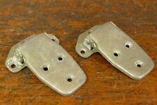 2 Vintage Matching Ice Chest/Box Door Hinge Nickel Plated Brass Antique Hardware