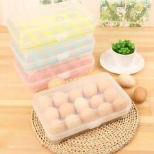 15 Eggs Holder Food Storage Container Plastic Refrigerator Egg Storage Box