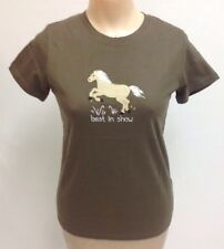Hatley Horse Tank T-shirt Best In Show Womens Size XS Equestrian Army Green