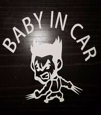 """""""Baby In Car"""" Waving Baby on Board Safety Sign Car Decal / Sticker/ Wolverine"""