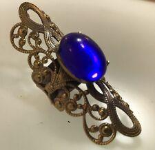 New 1960's Blue Glass Stone Gold Tone DESIGNER Kim Craftsmen Ring