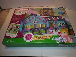 K'NEX MIGHTY MAKERS Home Designer Building Set SEALED CONTENTS 433 pcs OPEN BOX