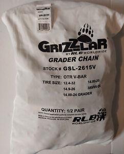 Grizzlar GSL-2615V Tire Chains Ladder Grader 12.4-32, 14.00-24 GRADER, 14.00-25