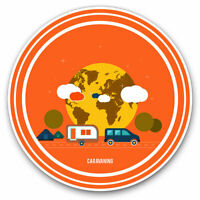 2 x Vinyl Stickers 7.5cm - Caravan Motorhome Camping Van Bus Cool Gift #9247