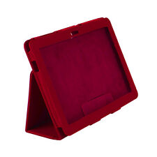 Funda piel para IPAD 2 IPAD 3 IPAD 4 Qoopro Atril Color Rojo