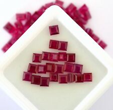 1.57 Cts Natural Ruby Square Cut 2.50 mm Lot 10 Pcs Red Shade Loose Gemstones