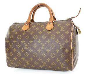 Authentic LOUIS VUITTON Speedy 30 Monogram Boston Handbag Purse #37414