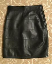 Vintage Gianni Versace Black Leather Skirt Size 38 Collector Piece