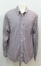 EDDIE BAUER Purple Men's Long Sleeved Buttoned Casual Check Shirt Size XL