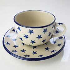 Polish Pottery Teacup and Saucer - Morning Star 200ml 6cm H X 9cm D(teacup) 15c