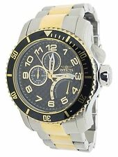 Invicta 17355 Pro Diver Retrograde Two Tone Steel Black Dial Mens Quartz Watch