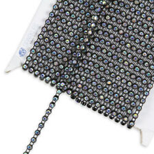 10 Yard SS10 AB Crystal Rhinestone Banding - Black - Trim Chain Roll Decor yz