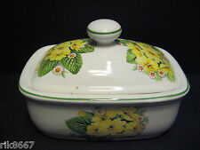 Primrose English Fine Bone China Butter Dish By Milton China