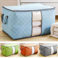 US Capacity Dust-Proof Clothes Storage Bag Clothing Pillow Quilt Organizer 2019