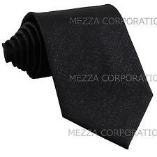 New polyester formal men's neck tie necktie Glitter Black wedding prom
