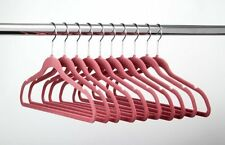 432 Huggable Hangers Slim Velvet Pink Chrome MPN 038