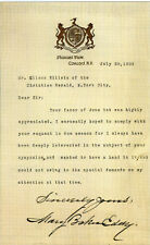 MARY BAKER EDDY Signed Letter - US Religious Leader Christian Science - reprint