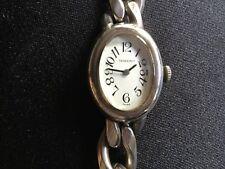 Massive Silberuhr 800er Silber Damenuhr Uhr Armbanduhr Panzerarmband +++