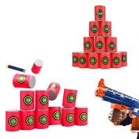 12X EVA Bullet Target Toy Gun Shoot Dart Fr NERF N-Strike Elite Blaster Kids Toy