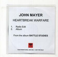 (JB653) John Mayer, Heartbreak Warfare - 2010 DJ CD