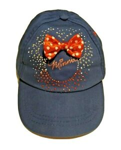 Disney Toddler Minnie Mouse Girls Hat, One Size, Blue, Bedazzled, Hook & Loop