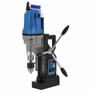 1100W Electric Magnetic Mag Drill Press Drilling Machine with Drill Bits 550rpm