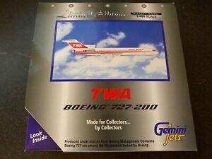 1/400 Gemini Jets GJTWA437 - Boeing 727-200 - TWA, N54336