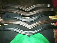 Set Of 6 Empty Channel English Padded Bridle Browband 6 MM & 8 MM Free Shipping