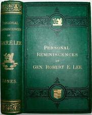 1876 PERSONAL REMINISCENCES OF ROBERT E LEE CIVIL WAR STONEWALL CONFEDERATE CSA