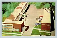 Chrome View of Mansion View Lodge, Downtown, Springfield IL, Postcard X21