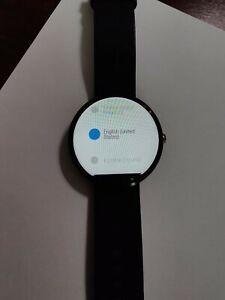 Motorola Moto 360 Smartwatch 1st Generation Black Leather Strap Great Condition