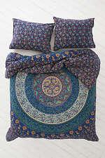 "Indian Mandala-Quilt Duvet Cover,Bedding King Size Doona Cover Bed Set 210""X225"""
