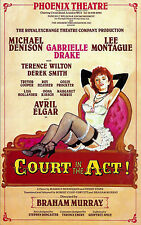 "Gabrielle Drake ""COURT IN THE ACT"" Michael Denison 1987 London Opening Flyer"