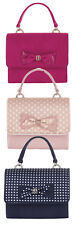 NEW Ruby Shoo Mali Box Bag with Bow Fuchsia Mink Navy Cordelia
