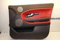 2016 RANGE ROVER EVOQUE DOOR CARD FRONT RIGHT SIDE RED LEATHER