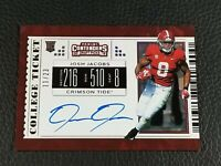 2019 Panini Contenders Draft Picks Josh Jacobs Auto #11/23 cracked ice