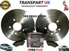 FOR VAUXHALL ZAFIRA A AND B REAR BRAKE DISCS PADS 1.9 2.2 DIESEL 1.6 1.8 PETROL