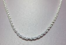 30  INCH STERLING SILVER PLATED 1.8MM SOLID ROPE CHAIN NECKLACE