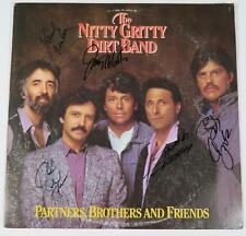 """NITTY GRITTY DIRT BAND Signed Autograph """"Partners, Brothers"""" Album Vinyl LP by 5"""