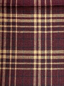 Fall Woven Plaid Fabric 100% Cotton Fabric Unbranded Fat Quarter