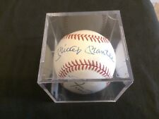Mickey Mantle - Willie Mays Dual Auto Autograph Baseball - JSA Certified #Z38251