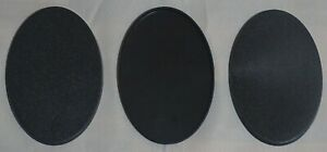 Generic 105 x 70mm Black Oval Bases (3) Suitable for Warhammer 40k Age of Sigmar