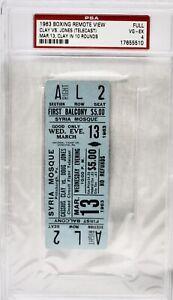 1963 Cassius Clay VS Doug Jones Encapsulated Closed Circuit Full Ticket ComesPSA