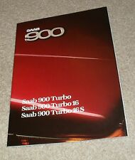 Saab 900 Brochure 1986 - Turbo 16S Turbo 16 - Hatchback & Coupe