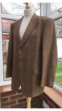 Magee Vintage Men's Wool Tweed Brown Tartan Blazer Jacket, Size M