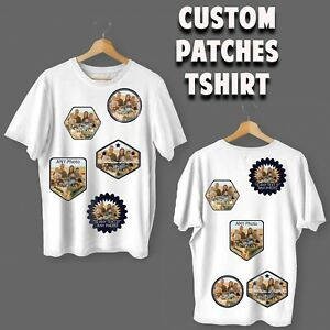 Personalised T-Shirt Custom Patch Photo Your Text Picture Logo