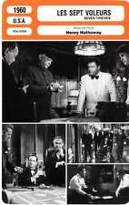 FICHE CINEMA : LES SEPT VOLEURS - Robinson,Steiger,Hathaway 1960 Seven Thieves